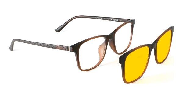 Blaulichfilter Brille Magnet Aufsatz